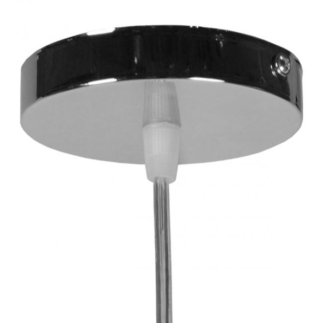 Μοντέρνο Κρεμαστό Φωτιστικό Οροφής Μονόφωτο Γυάλινο Μελί Διάφανο Φ18 GloboStar LUNATICA 01315 - 8
