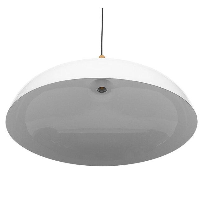 Μοντέρνο Κρεμαστό Φωτιστικό Οροφής Μονόφωτο Λευκό Μεταλλικό Καμπάνα Φ60  VALLETE WHITE 01257 - 6