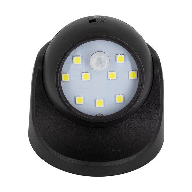 79001 Μαύρο Φωτιστικό Μπαταρίας σε Σχήμα Κάμερας LED SMD 3W 300lm με Αισθητήρα Ημέρας-Νύχτας και PIR Αισθητήρα Κίνησης Ψυχρό Λευκό 6000K - 3