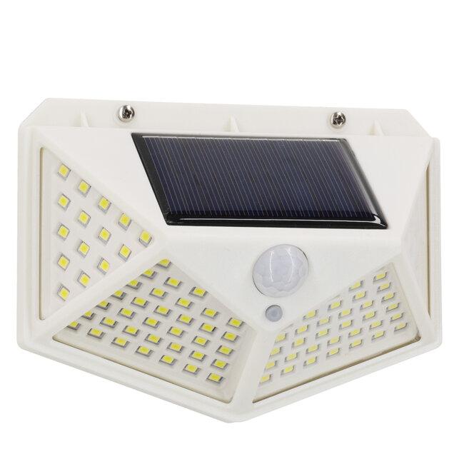 71498 Αυτόνομο Ηλιακό Φωτιστικό LED SMD 10W 1000lm με Ενσωματωμένη Μπαταρία 1200mAh - Φωτοβολταϊκό Πάνελ με Αισθητήρα Ημέρας-Νύχτας και PIR Αισθητήρα Κίνησης IP65 Ψυχρό Λευκό 6000K - 4