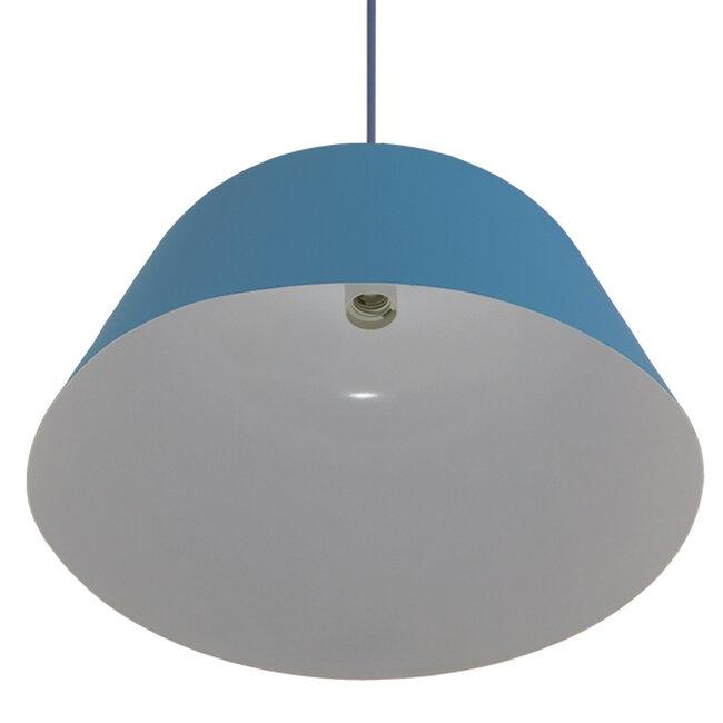 Μοντέρνο Κρεμαστό Φωτιστικό Οροφής Μονόφωτο Μπλε Μεταλλικό Καμπάνα Φ40  DOWNVALE 01286 - 5