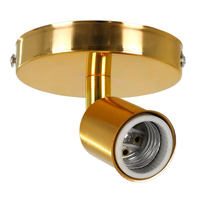 SARA 00845 Μοντέρνο Φωτιστικό Οροφής / Τοίχου Μονόφωτο 1xE27 Μεταλλικό Χρυσό Φ10 x Υ10.3cm - 2
