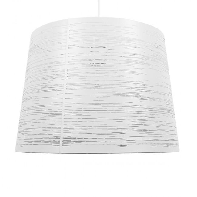 Μοντέρνο Industrial Κρεμαστό Φωτιστικό Οροφής Μονόφωτο Μεταλλικό Λευκό Καμπάνα Φ35  ACCADEMIA 01557 - 3
