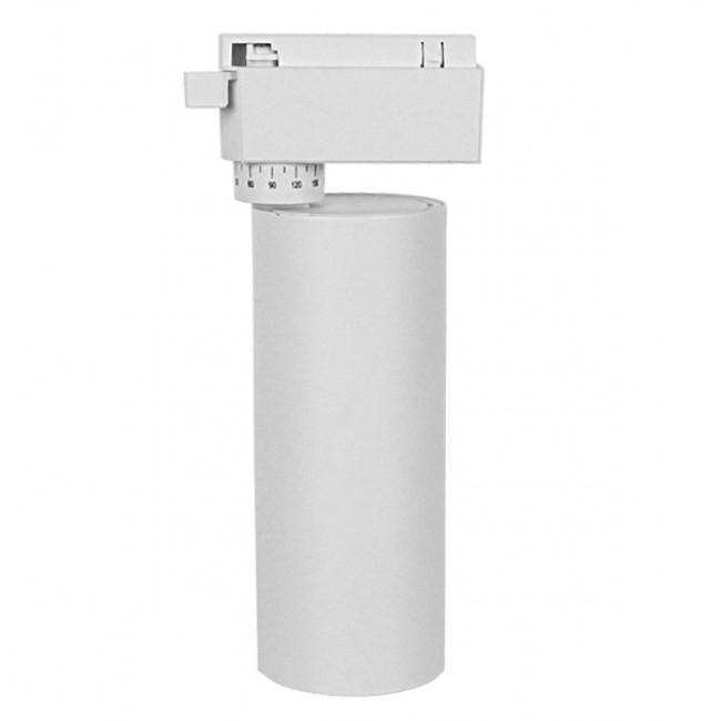 Μονοφασικό Bridgelux COB LED Λευκό Φωτιστικό Σποτ Ράγας 20W 230V 2500lm 30° Φυσικό Λευκό 4500k GloboStar 93100 - 2
