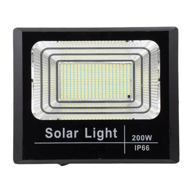 GloboStar® 71558 Αυτόνομος Ηλιακός Προβολέας LED SMD 200W 16000lm με Ενσωματωμένη Μπαταρία 20000mAh - Φωτοβολταϊκό Πάνελ με Αισθητήρα Ημέρας-Νύχτας και Ασύρματο Χειριστήριο RF 2.4Ghz Αδιάβροχος IP66 Ψυχρό Λευκό 6000K - 5