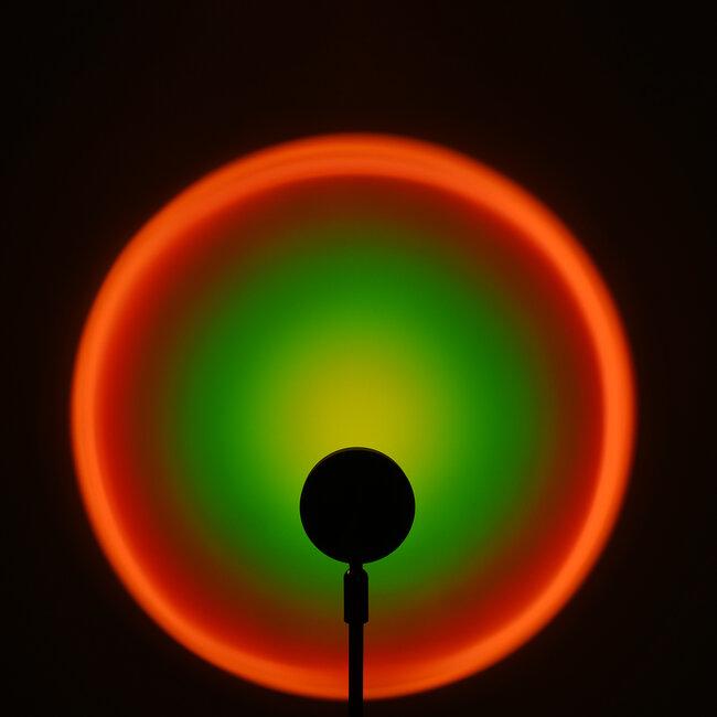 GloboStar® 00816 Μοντέρνο Επιτραπέζιο Φωτιστικό Μονόφωτο Μεταλλικό LED 12W DC 5V Rotation 180° RAINBOW GREEN - 3