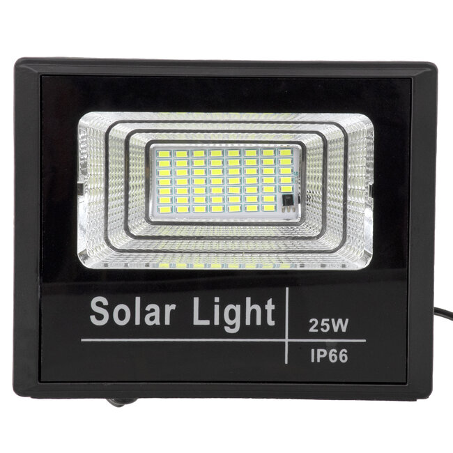 71554 Αυτόνομος Ηλιακός Προβολέας LED SMD 25W 2000lm με Ενσωματωμένη Μπαταρία 3000mAh - Φωτοβολταϊκό Πάνελ με Αισθητήρα Ημέρας-Νύχτας και Ασύρματο Χειριστήριο RF 2.4Ghz Αδιάβροχος IP66 Ψυχρό Λευκό 6000K - 5