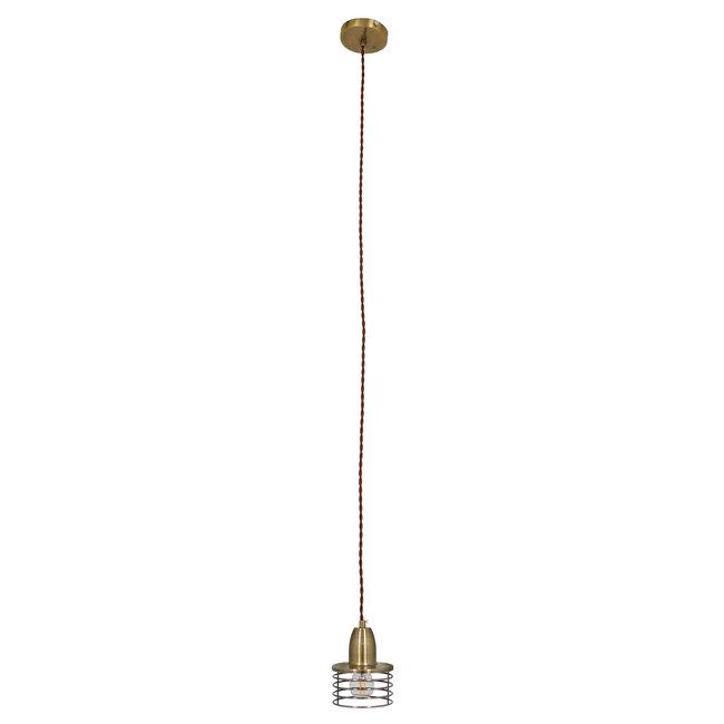 Μοντέρνο Industrial Κρεμαστό Φωτιστικό Οροφής Μονόφωτο Μεταλλικό Μπρούτζινο Καμπάνα Φ11  MANHATTAN BRONZE 01455 - 4