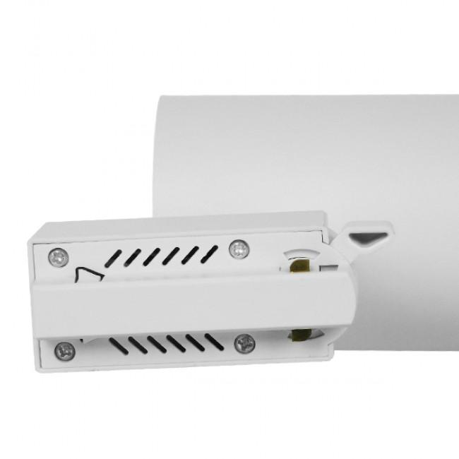 Μονοφασικό Bridgelux COB LED Λευκό Φωτιστικό Σποτ Ράγας 10W 230V 1250lm 30° Φυσικό Λευκό 4500k GloboStar 93091 - 6