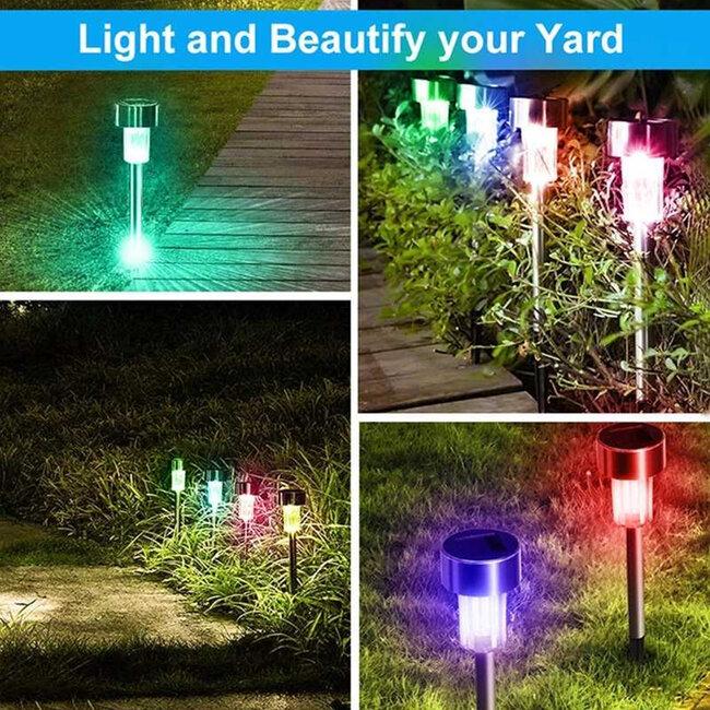 71522 Αυτόνομο Ηλιακό Φωτιστικό LED SMD 1W 90lm με Ενσωματωμένη Μπαταρία 600mAh - Φωτοβολταϊκό Πάνελ με Αισθητήρα Ημέρας-Νύχτας Αδιάβροχο IP65 Φανάρι Κήπου Στρογγυλό Πολύχρωμο RGB - 6