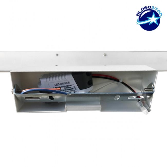 LED Φωτιστικό Τοίχου Αρχιτεκτονικού Φωτισμού 42cm Καθρέπτη / Πίνακα Λευκό IP54 12 Watt SMD Φυσικό Λευκό GloboStar 93331 - 6