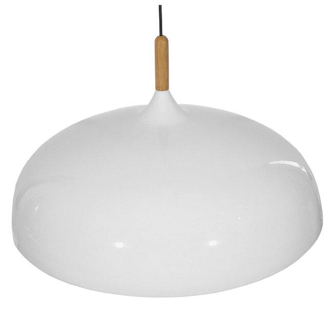 Μοντέρνο Κρεμαστό Φωτιστικό Οροφής Μονόφωτο Λευκό Μεταλλικό Καμπάνα Φ60  VALLETE WHITE 01257 - 5