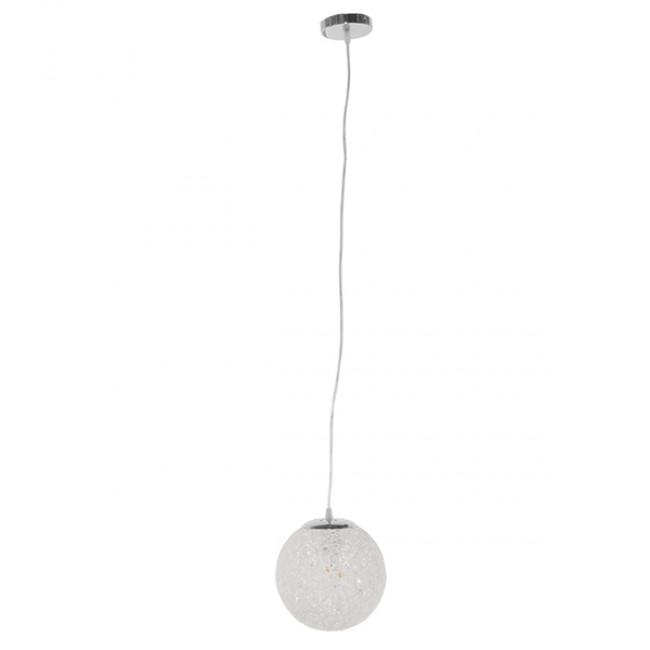 Vintage Κρεμαστό Φωτιστικό Οροφής Μονόφωτο Λευκό Ξύλινο Ψάθινο Rattan Φ20  ICEBERG 01355 - 2