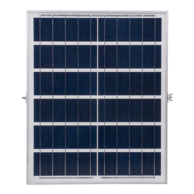 71560 Αυτόνομος Ηλιακός Προβολέας LED SMD 150W 18000lm με Ενσωματωμένη Μπαταρία 15000mAh - Φωτοβολταϊκό Πάνελ με Αισθητήρα Ημέρας-Νύχτας και Ασύρματο Χειριστήριο RF 2.4Ghz Αδιάβροχος IP66 Ψυχρό Λευκό 6000K - 8