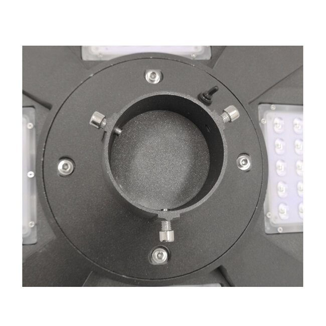 Αυτόνομο Αδιάβροχο IP65 Ηλιακό Φωτοβολταϊκό Φωτιστικό Στύλου / Κολώνας Πλατείας LED 25W με Ανιχνευτή Κίνησης, Αισθητήρα Νυχτός και Ασύρματο Χειριστήριο Θερμό Λευκό 3000k GloboStar 12118 - 7