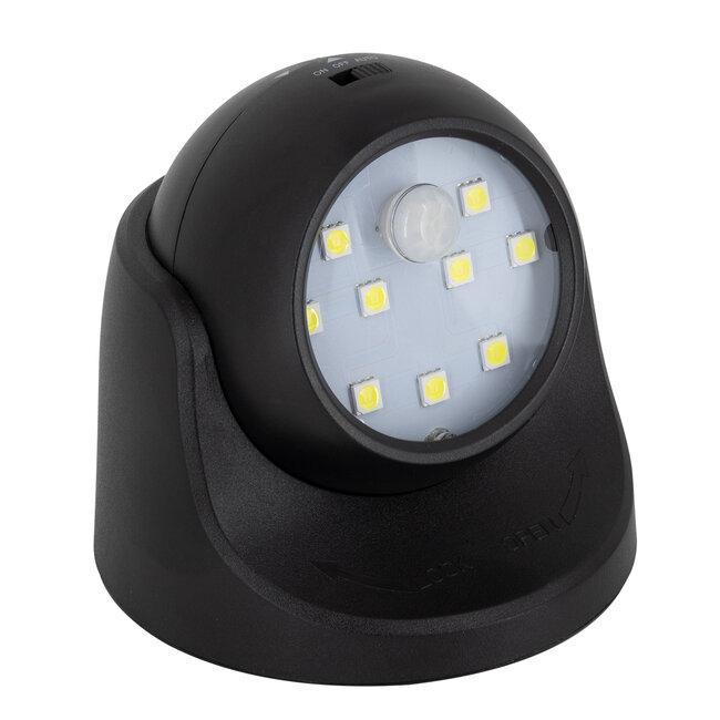 79001 Μαύρο Φωτιστικό Μπαταρίας σε Σχήμα Κάμερας LED SMD 3W 300lm με Αισθητήρα Ημέρας-Νύχτας και PIR Αισθητήρα Κίνησης Ψυχρό Λευκό 6000K - 2