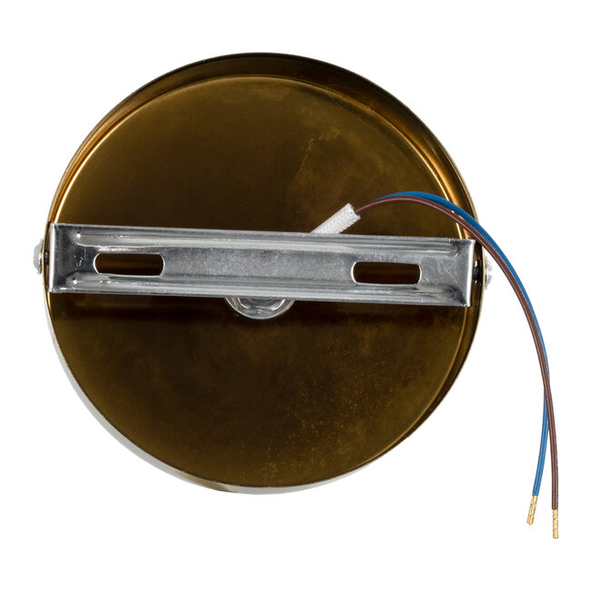 SARA 00846 Μοντέρνο Φωτιστικό Οροφής / Τοίχου Μονόφωτο 1xE27 Μεταλλικό Μπρονζέ Χρυσό Φ10 x Υ10.3cm - 5