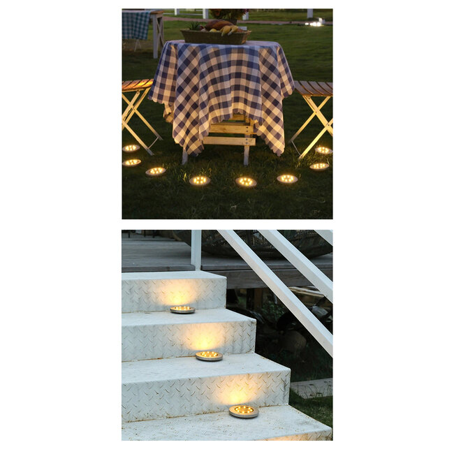GloboStar® 71503 Αυτόνομο Ηλιακό Φωτιστικό Κήπου LED SMD 3W 170 lm με Ενσωματωμένη Μπαταρία 600mAh - Φωτοβολταϊκό Πάνελ με Αισθητήρα Ημέρας-Νύχτας IP65 Θερμό Λευκό 3000k - 15