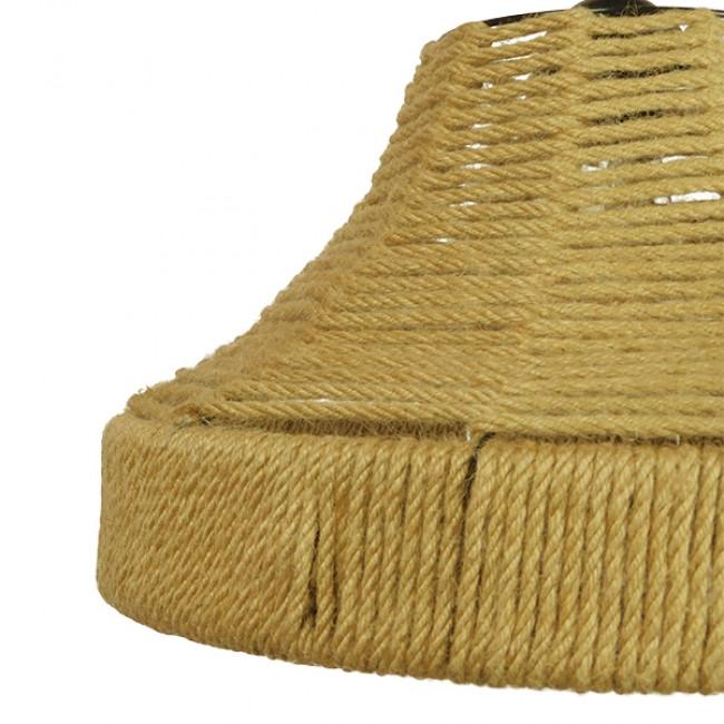 Vintage Κρεμαστό Φωτιστικό Οροφής Μονόφωτο Καμπάνα με Μπεζ Σχοινί Φ41 GloboStar DOGMA 01609 - 9