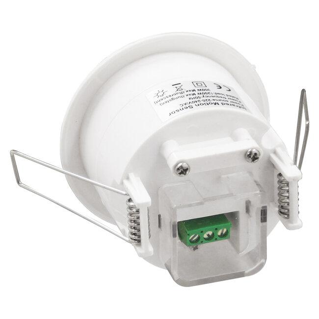 75706 Χωνευτός Αισθητήρας Οροφής με PIR Ανιχνευτή-Αισθητήρα Κίνησης 360° 6m και Αισθητήρα Ημέρας-Νύχτας - Motion Sensor AC 230V Max 300W/1200W - 5