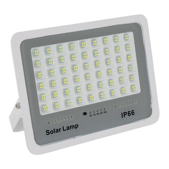 71560 Αυτόνομος Ηλιακός Προβολέας LED SMD 150W 18000lm με Ενσωματωμένη Μπαταρία 15000mAh - Φωτοβολταϊκό Πάνελ με Αισθητήρα Ημέρας-Νύχτας και Ασύρματο Χειριστήριο RF 2.4Ghz Αδιάβροχος IP66 Ψυχρό Λευκό 6000K - 3
