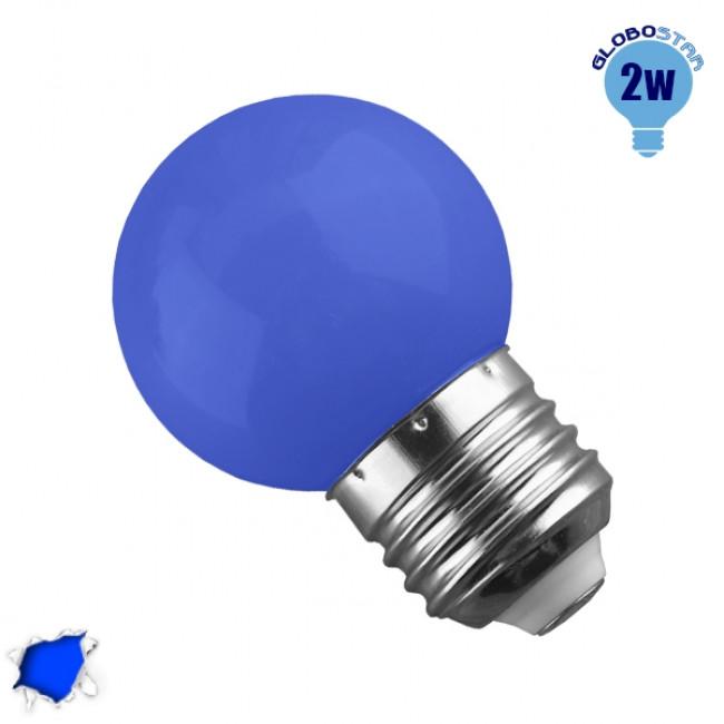 Mini Γλόμπος LED G45 2 Watt Μπλε GloboStar 64006