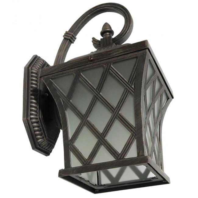 Vintage Φωτιστικό Τοίχου Απλίκα Μονόφωτο Μπρονζέ Μεταλλικό Πλέγμα GloboStar LELIA 01251 - 5