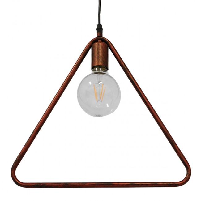 Μοντέρνο Κρεμαστό Φωτιστικό Οροφής Μονόφωτο Καφέ Σκουριά Μεταλλικό  DELTA IRON RUST 01581 - 3