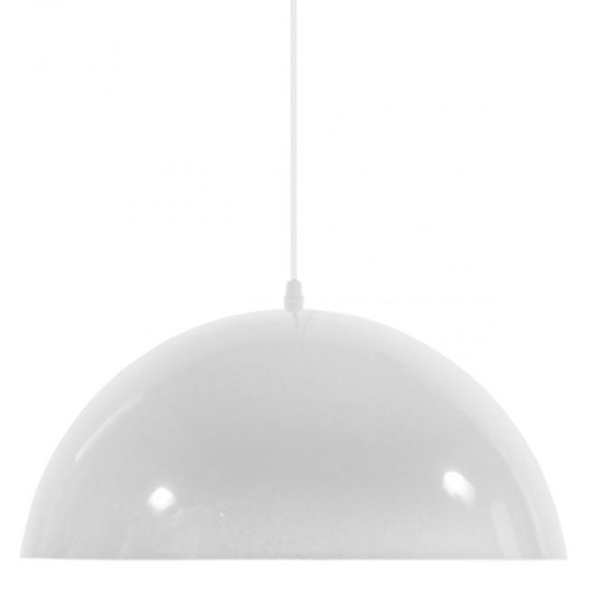 Μοντέρνο Κρεμαστό Φωτιστικό Οροφής Μονόφωτο Λευκό Χρυσό Μεταλλικό Καμπάνα Φ40  LUNE 01339 - 3