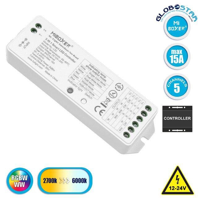 73422 Ασύρματος RF 2.4Ghz LED RGBW + WW Smart Controller Mi-Light LS2 MiBOXER RF 2.4G DC 12-24V Max 360W