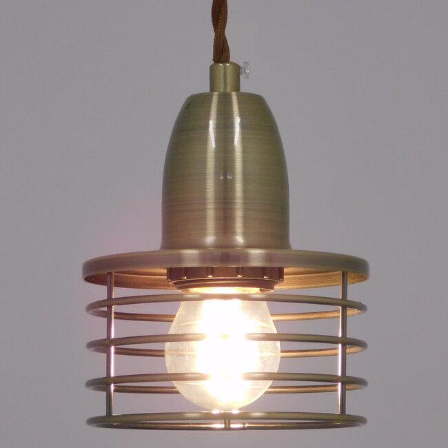 Μοντέρνο Industrial Κρεμαστό Φωτιστικό Οροφής Μονόφωτο Μεταλλικό Μπρούτζινο Καμπάνα Φ11  MANHATTAN BRONZE 01455 - 3