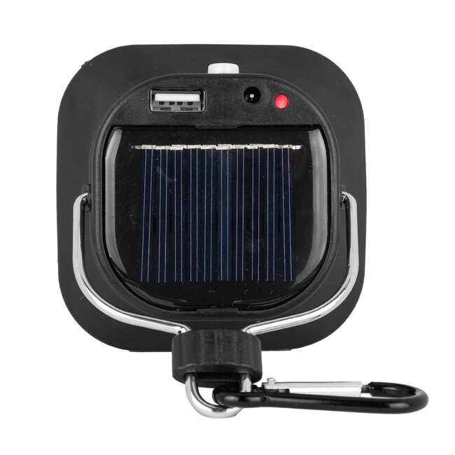 GloboStar® 71486 Αυτόνομο Ηλιακό Φωτιστικό Λάμπα - Φανάρι Camping LED SMD 10W 1000lm με USB PowerBank & Ενσωματωμένη Μπαταρία 1200mAh - Φωτοβολταϊκό Πάνελ με Αισθητήρα Ημέρας-Νύχτας και Διακόπτη ON/OFF IP54 Ψυχρό Λευκό 6000K - 5