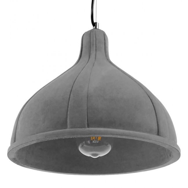 Μοντέρνο Industrial Κρεμαστό Φωτιστικό Οροφής Μονόφωτο Γκρι Τσιμέντο Καμπάνα Φ29 GloboStar GIRARD 01326 - 5