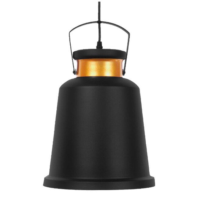 Vintage Industrial Κρεμαστό Φωτιστικό Οροφής Μονόφωτο Μαύρο Μεταλλικό Καμπάνα Φ27  NUNZIATA 01236 - 3