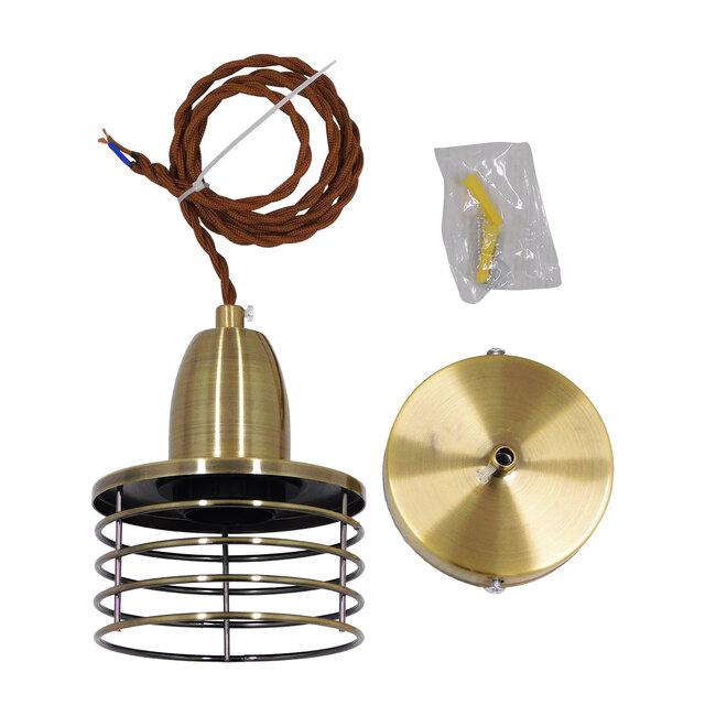 Μοντέρνο Industrial Κρεμαστό Φωτιστικό Οροφής Μονόφωτο Μεταλλικό Μπρούτζινο Καμπάνα Φ11  MANHATTAN BRONZE 01455 - 9