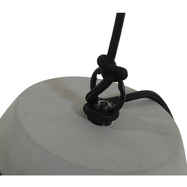 Μοντέρνο Industrial Κρεμαστό Φωτιστικό Οροφής Μονόφωτο Γκρι Τσιμέντο Καμπάνα Φ18  TRIBECA 01320 - 10