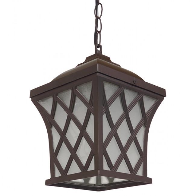 Vintage Industrial Κρεμαστό Φωτιστικό Οροφής Μονόφωτο Μπρονζέ Μεταλλικό Πλέγμα GloboStar LINCOLN 01399 - 8
