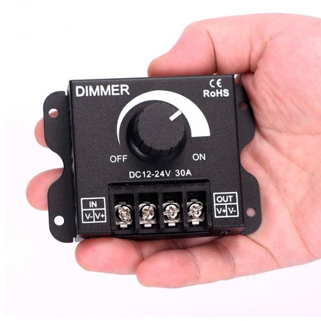 Εξωτερικό Dimmer Knob 12-24 Volt 30 Ampere 360/720 Watt GloboStar 50041 - 10