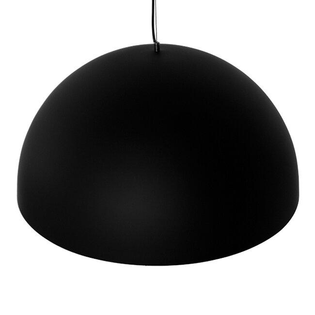 Μοντέρνο Κρεμαστό Φωτιστικό Οροφής Μονόφωτο Μαύρο Χρυσό Μεταλλικό Καμπάνα Φ60  DIADEMA 01342 - 5