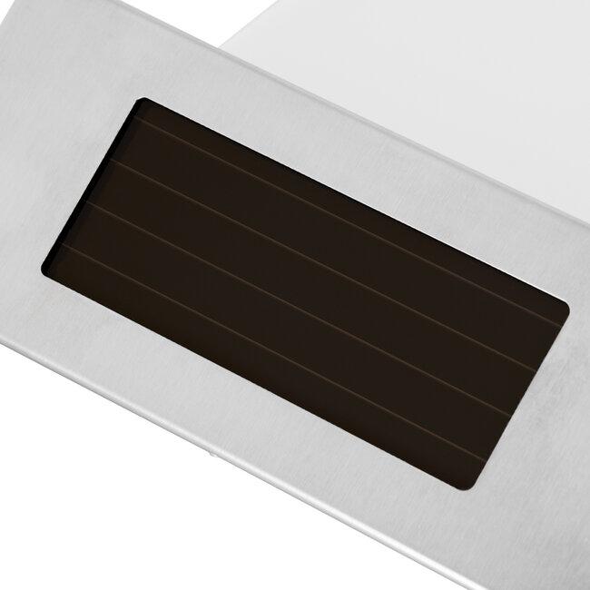 71485 Αυτόνομο Ηλιακό Φωτιστικό LED SMD 1W 100lm με Ενσωματωμένη Μπαταρία 600mAh - Φωτοβολταϊκό Πάνελ με Αισθητήρα Ημέρας-Νύχτας για Αρίθμηση Διεύθυνσης Δρόμου Αδιάβροχο IP65 Ψυχρό Λευκό 6000K - 8
