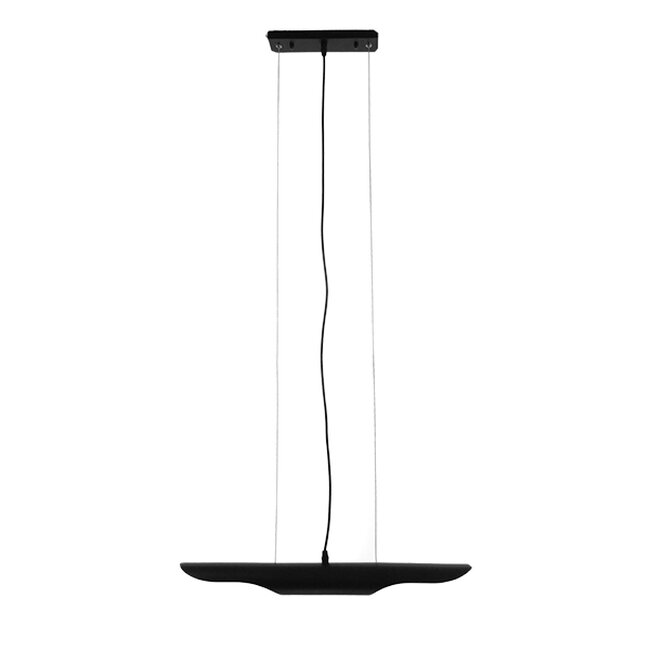 Μοντέρνο Κρεμαστό Φωτιστικό Οροφής Δίφωτο Μαύρο - Χρυσό Μεταλλικό  ESTERINA 01304 - 2