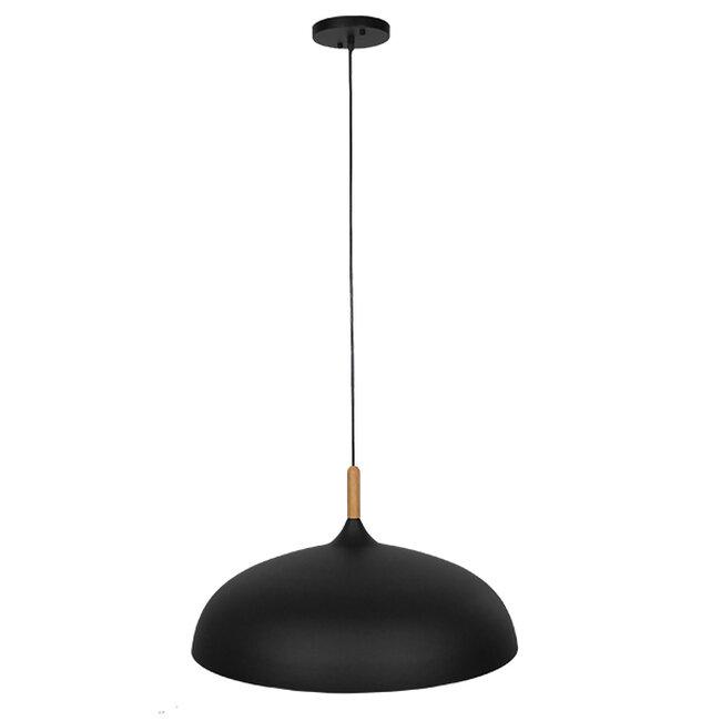 Μοντέρνο Κρεμαστό Φωτιστικό Οροφής Μονόφωτο Μαύρο Μεταλλικό Καμπάνα Φ60  VALLETE BLACK 01259 - 2