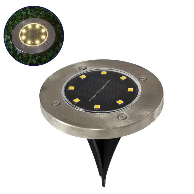 GloboStar® 71503 Αυτόνομο Ηλιακό Φωτιστικό Κήπου LED SMD 3W 170 lm με Ενσωματωμένη Μπαταρία 600mAh - Φωτοβολταϊκό Πάνελ με Αισθητήρα Ημέρας-Νύχτας IP65 Θερμό Λευκό 3000k - 2