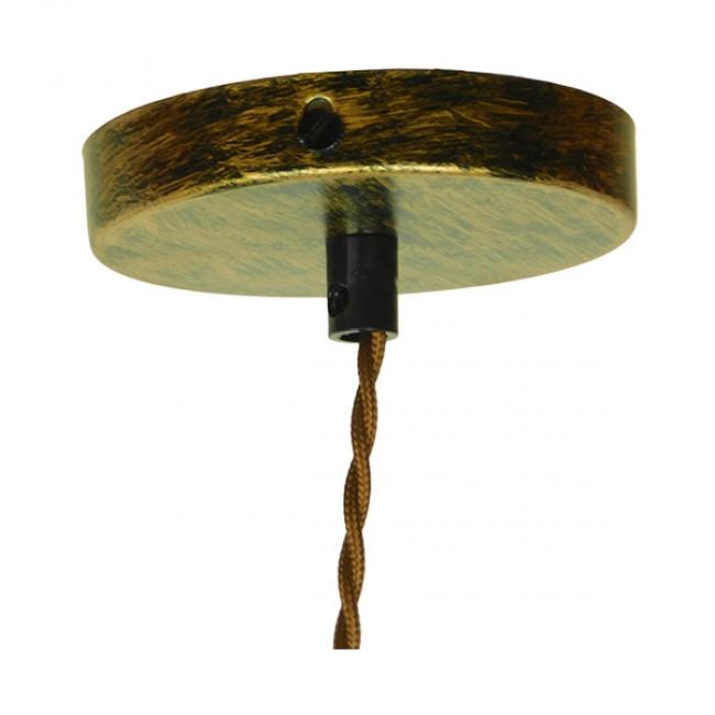 Vintage Industrial Κρεμαστό Φωτιστικό Οροφής Μονόφωτο Μπρούτζινο Μεταλλικό GloboStar SPIGOT 01413 - 10