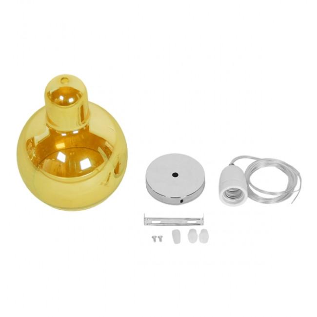 Μοντέρνο Κρεμαστό Φωτιστικό Οροφής Μονόφωτο Γυάλινο Μελί Διάφανο Φ18 GloboStar LUNATICA 01315 - 9