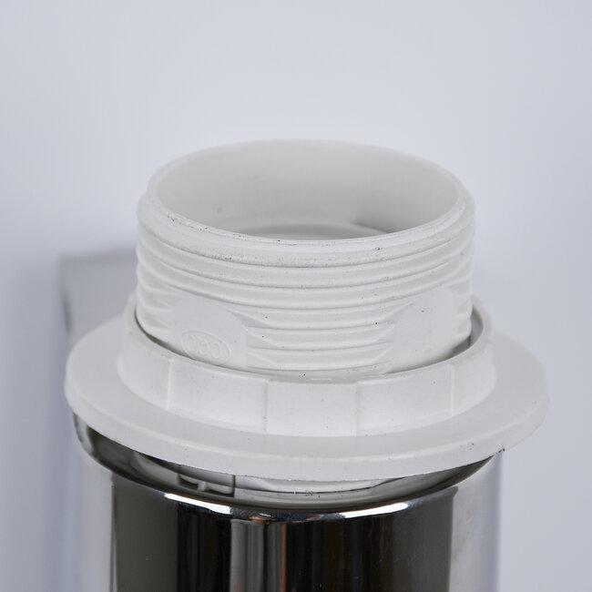 ELEGANT 01493 Μοντέρνο Φωτιστικό Τοίχου Απλίκα Δίφωτο Μεταλλικό με Λευκό Ύφασμα και Βραχίονα με LED Μ26.5 x Π15 x Υ43cm - 8