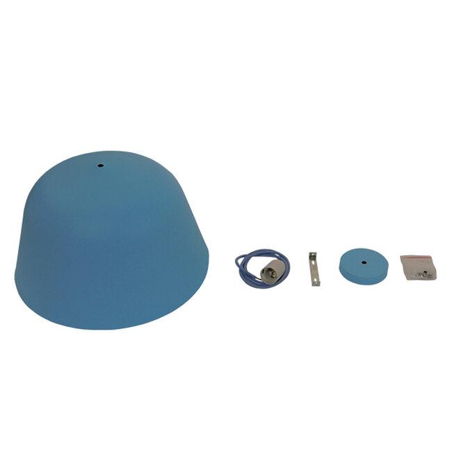 Μοντέρνο Κρεμαστό Φωτιστικό Οροφής Μονόφωτο Μπλε Μεταλλικό Καμπάνα Φ40  DOWNVALE 01286 - 9