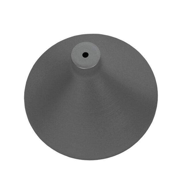 Μοντέρνο Κρεμαστό Φωτιστικό Οροφής Μονόφωτο Ασημί Μεταλλικό Καμπάνα Φ27  PIROZZI 01277 - 6