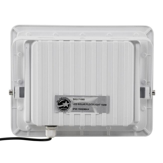 71560 Αυτόνομος Ηλιακός Προβολέας LED SMD 150W 18000lm με Ενσωματωμένη Μπαταρία 15000mAh - Φωτοβολταϊκό Πάνελ με Αισθητήρα Ημέρας-Νύχτας και Ασύρματο Χειριστήριο RF 2.4Ghz Αδιάβροχος IP66 Ψυχρό Λευκό 6000K - 6