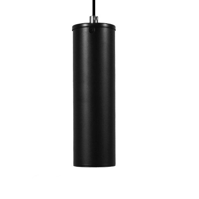 Μοντέρνο Κρεμαστό Φωτιστικό Οροφής Spot Gu10 Μονόφωτο Μαύρο Μεταλλικό Φ6  CANNON BLACK 01275 - 7